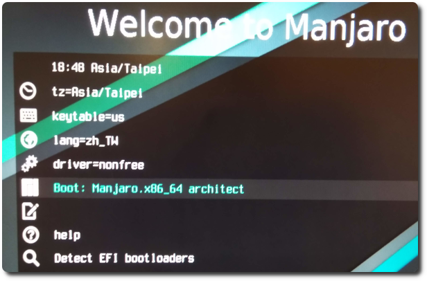 Manjaro-Architect installation | Old Sen Chang Tan